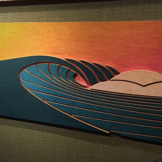 coastal home decor - surf art - wood sculptures - things to do at laguna beach - laguna beach sunsets - surf decor