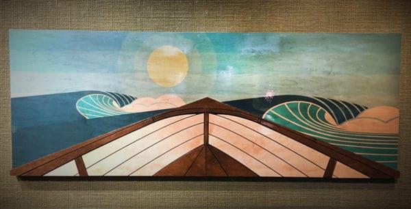 Surf decor - Laguna Beach downtown - things to do in laguna beach - Laguna Beach Art Gallery - Wave Sculptures