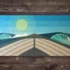 Ocean Art, Cottage Decor, Beach Wall Decor, Beach Wall Art, Wave Art, Surfboard Wall Art, Beach Themed Home Decor