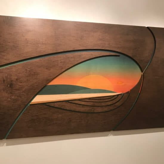 Wave sculptures - laguna beach sunset - laguna beach art gallery - coastal home decor - decorating a coastal home - tropical room decor - surf decor - laguna beach art gallery