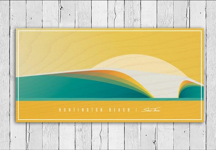 Ocean Art, Cottage Decor, Beach Wall Decor, Beach Wall Art, Wave Art, Surfboard Wall Art, Beach Themed Home Decor,
