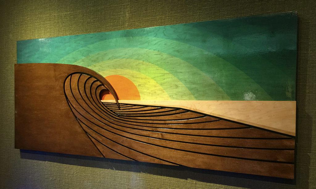 WOODEN SURFBOARD DECOR   Beach Wall Art by Shaun Thomas