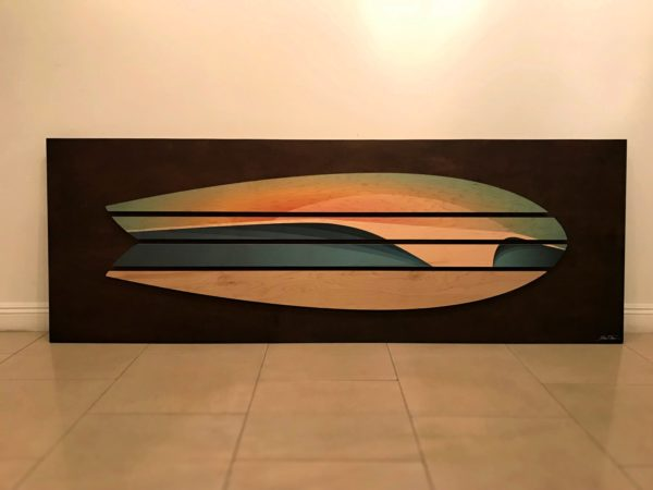 surf decor - surfboard artwork - wood wall sculptures