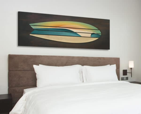 wooden surf board decor | Shaun Thomas | coastal wall sculptures