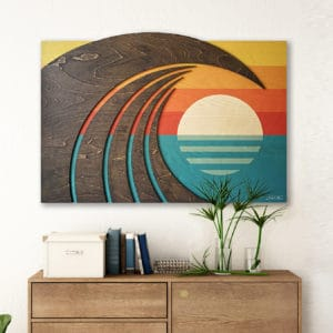 Surf Wall Art | Wooden wave art | Hawiian artwork