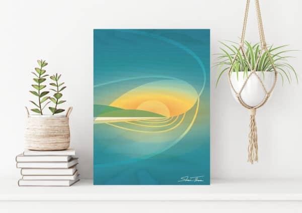 Surf Wall Art | Wooden wave art