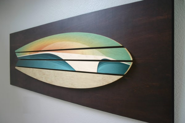 wooden surf board decor | Shaun Thomas
