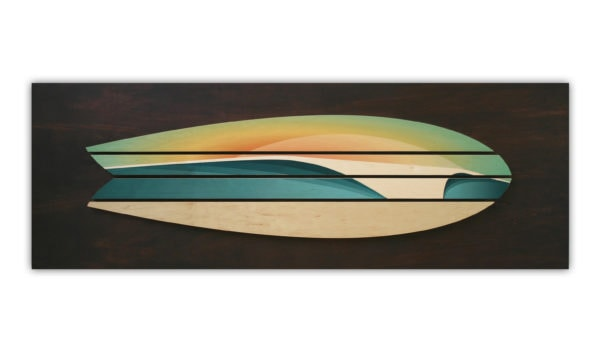 Wooden wave art | Wooden Surfboard Decor