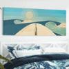 WOODEN SURFBOARD DECOR | san diego surf art | beach artwork decor | surfboard wall art