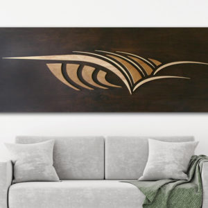 WOODEN SURFBOARD DECOR