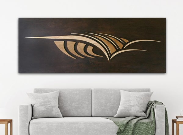 WOODEN SURFBOARD DECOR | Wooden wave art