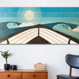 Wooden wave art