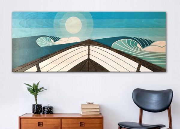 Wooden wave art