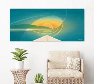WOODEN SURFBOARD DECOR   beach artwork decor   Surfboard wall art