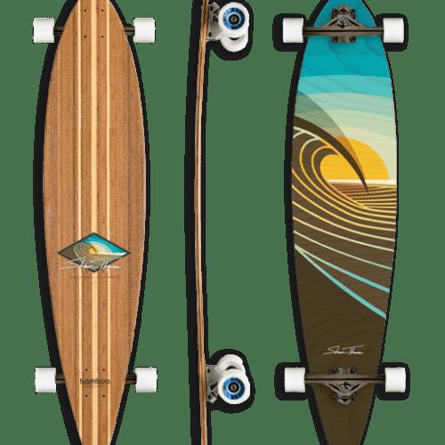Bamboo Longboard Skateboard, Shaun Thomas Artwork