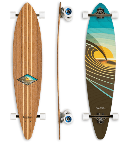 Bamboo Longboard Skateboard, Shaun Thomas Artwork